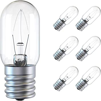 Amazon Com Appliance Light Bulb 125v 25w Microwave Light Bulb Replacement Parts E17 Base Fits For Most Ge Whirlpool Oven Clear Incandescent T8 Oven Light Lamp 6 Pack Home Improvement