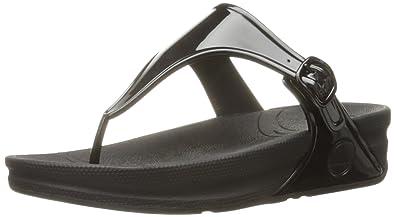 0c4b8ec11269 FitFlop Womens Superjelly™ Rubber Flip Flops SuperjellyTM Rubber Flip Flops  Grey Size  10 M