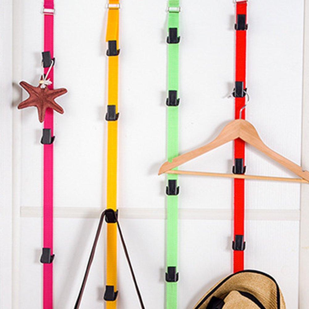 Percha multifunci/ón para puerta trasera bolso de b/éisbol soporte organizador de almacenamiento para armario de puerta Tama/ño libre negro