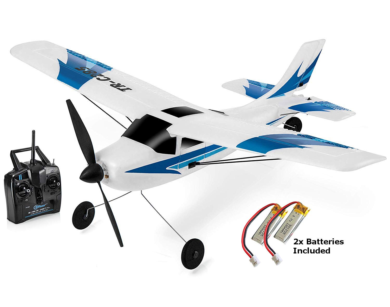 Top Race 3 Channel Remote Control Airplane, Built in 6 Axis Gyro System Super Easy To Fly RTF. TRC285
