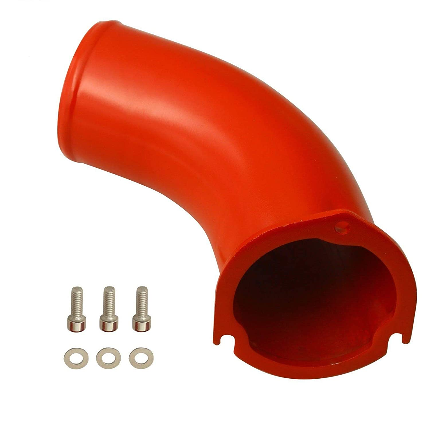yjracing 3.5' Turbo Air Intake Elbow Fit for 2001-2004 Chevy GMC 6.6L V8 Duramax Diesel LB7 Red