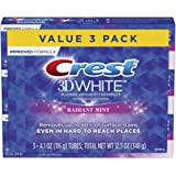Crest 3D White Toothpaste Radiant Mint (3 Count of 4.1 oz Tubes)