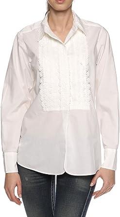 Ralph Lauren Polo Blusa Jordan para Mujer, Color: Blanco, Talla: M ...
