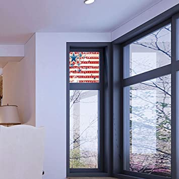 Stained Glass American Flag.Amazon Com Yoliyana Stained Glass Window Film American Flag