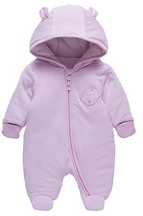 4184242a6 LJ Unisex-Baby Hoodie Fleece Pram Snowsuit  Amazon.ca  Clothing ...