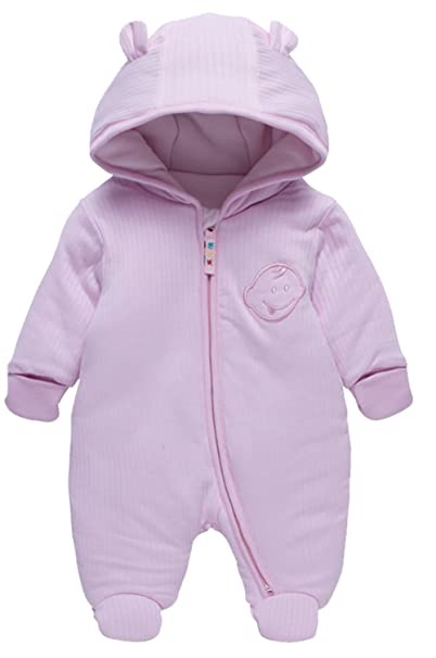 86ad0d98dc91 LJ Unisex-Baby Hoodie Fleece Pram Snowsuit  Amazon.ca  Clothing ...