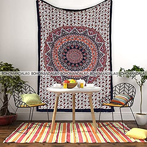 Popular Mandala Tapestry Tapestries Indian Ethnic Design Printed Elephant Six