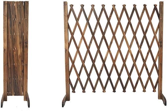 kaige Cerca del jardín Engrosada Cerca del Perro Puerta de Seguridad Barandilla Barrera de Madera se Puede Extender a 170cm (Tamaño: 90cmx28cm) WKY (Size : 70cmx28cm): Amazon.es: Hogar