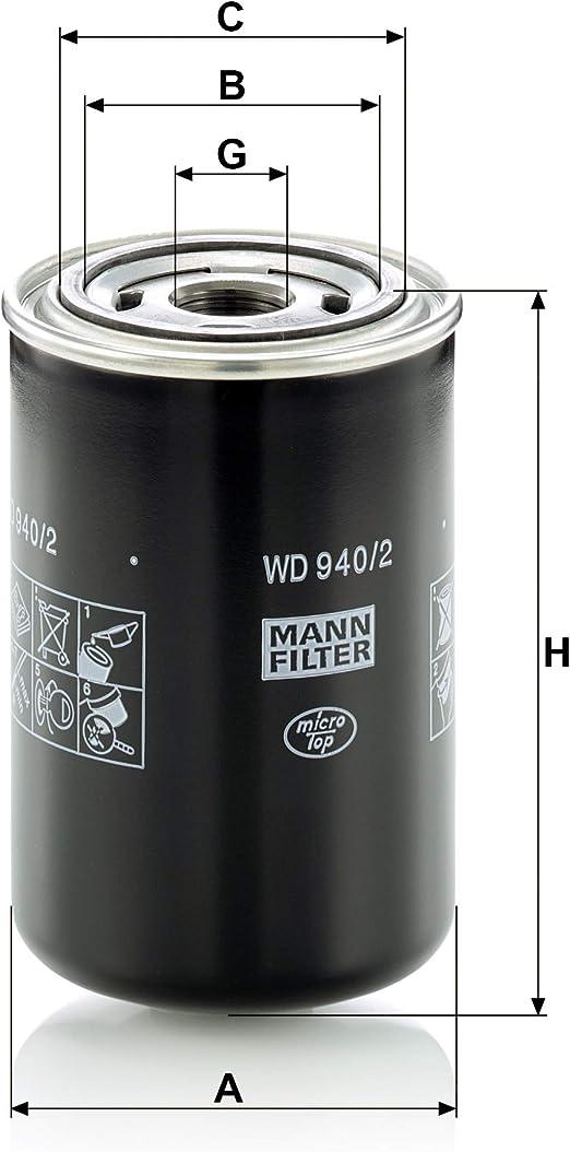 Original Mann Filter Ölfilter Wd 940 2 Hydraulikfilter Für Nutzfahrzeuge Auto