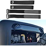 Sukemichi jeep Soft Top Sunrider Straps, Tie Down Straps for Jeep Wrangler TJ JK JL 1997-2019(4 pack)
