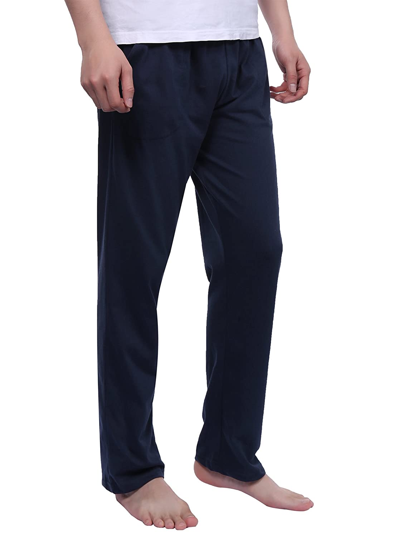 Aibrou Pantalones de Pijama Hombre Largos con Cintur/ón de Forro Polar Modal,Suave,Comodo,Ajustable y Transpirable