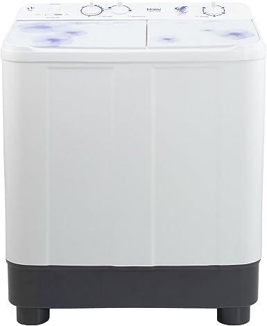 Haier 7 6 Kg Semi Automatic Top Loading Washing Machine Htw76 1159 White Amazon In Home Kitchen