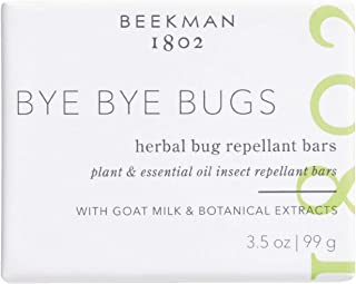 product image for Beekman 1802 - Bye Bye Bugs Herbal Bug Repellant Bars - Goat Milk-Based Bar Soap with Citronella - Cruelty-Free Bodycare - 3.5 oz