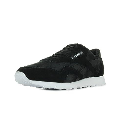 8f2b30f8226 Reebok Men s Classic Nylon Arch Trainers Black  Amazon.co.uk  Shoes ...