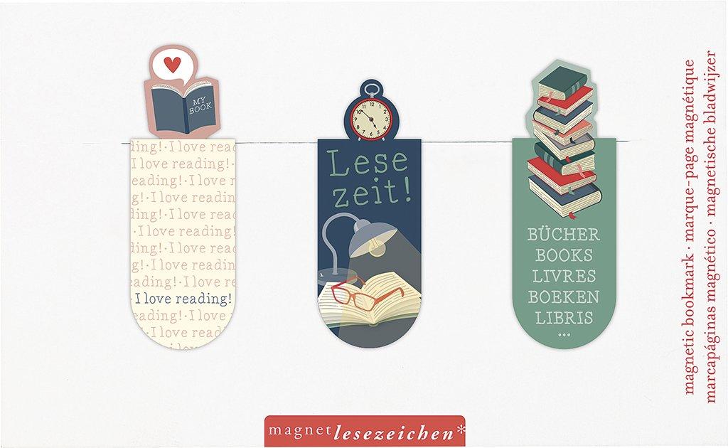 Moses 31130/Set de 3/Temps de lecture magn/étique Signet illustre marque-page magn/étique Charmante