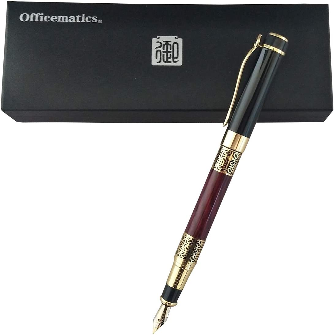 recambio de tinta Officematics Pluma estilogr/áfica plumas vintage bol/ígrafo de regalo de negocios bol/ígrafo de caligraf/ía