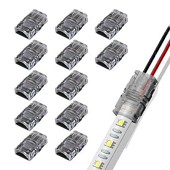 1 x RGB LED Streifen Strip Connector Adapter Clip Schnell Verbinder 2 Polig 8mm