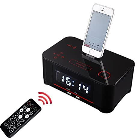 Amazon.com: powmax ww-48 Radio FM Dual Alarm Clock con Smart ...
