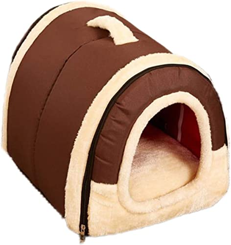 Old DIrd Cat Bed House,Pets 2 in 1 Self Warming Triangle Foldable Cat Cave Bed,Comfortable Soft Plush Enclosed Cat Dogs Tent Bed