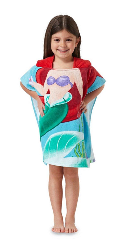 Ariel la petite sirène de Disney Serviette de bain Poncho à capuche