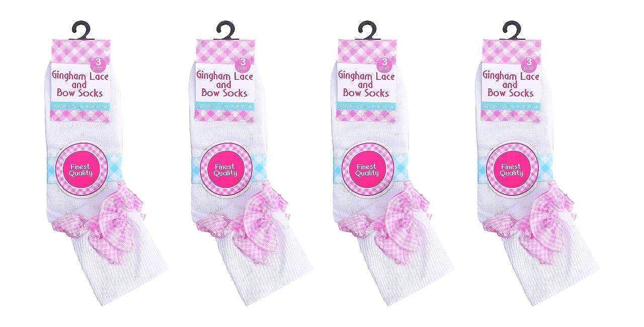Lace Socks Frill White Fancy lace ankle socks School Dance Uniform Ballet Girls Kids Size 12-3 7-10 years