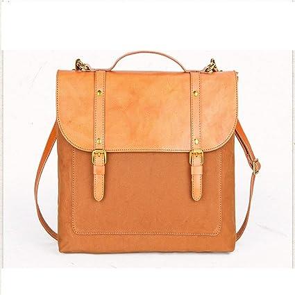 1f65df23f640 FLYSXP Vintage Canvas Messenger Bag Laptop Bag Shoulder Bag Briefcase 14  Inch Handbag