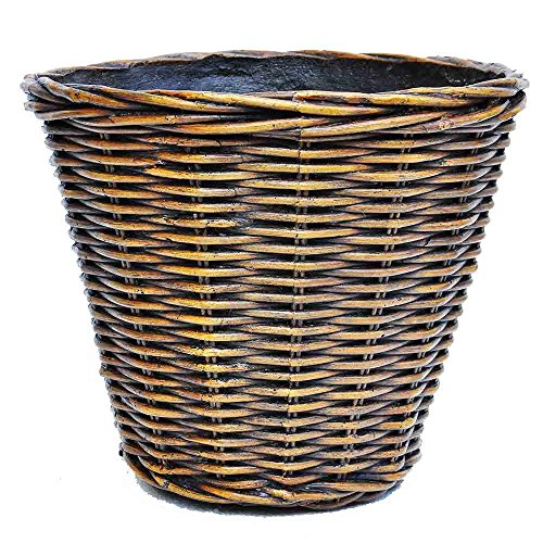 22 in. Dia Wicker Composite Woven Look Pot by MPG Sport
