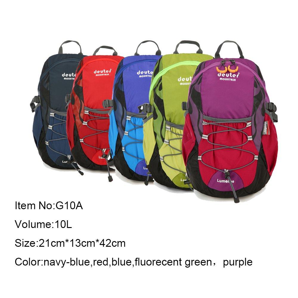 Amazing新しいアウトドアジムスポーツバッグ通気性防水ナイロンhhikingバックパック  蛍光緑 B07D3KB5YJ