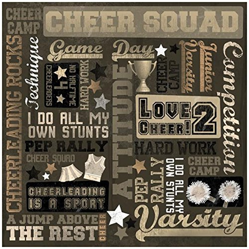Karen Foster Design Scrapbooking Paper, 25 Sheets, Cheer Squad Collage, 12 x - Foster Karen Paper Collage Design