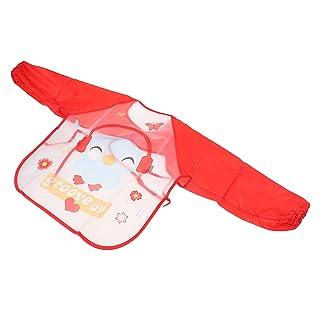 Fenteer Grembiule Giacca Cappotto Impermeabili da Pittura per Bambini Ragazze - Arancia
