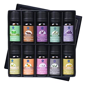 Lagunamoon Essential Oils Top 10 Gift Set Pure Essential Oils Gift Set for Diffuser, Humidifier, Massage, Aromatherapy, Skin & Hair Care essential oils - 61kca8diBRL - ESSENTIAL OILS – THE BEST PICKS FOR A GOOD HEALTH AND SLEEP HELP