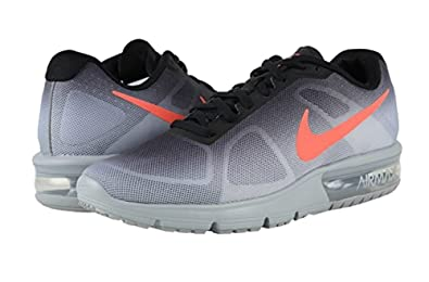 best sneakers 00dd8 d55e0 Image Unavailable. Image not available for. Color Nike Air Max Sequent  Metallic SilverBlackDark GreyBright Crimson Mens Running