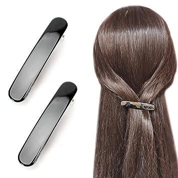 A Black Shiny Barrette Hair Clip