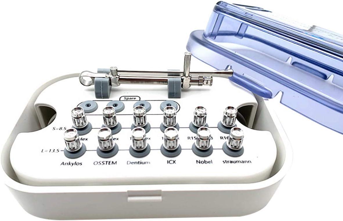 HSRG Dental Implant Restoration Tool Kit Dental Universal Implant Torque Screwdrivers Wrench, Dental Screwdriver Implant Wrench (1 Whole Set)