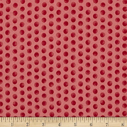 Gingerbread Christmas Subtle Dots Pink Fabric By The Yard