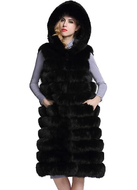 FOLOBE Chaqueta de Abrigo de Piel sintética, Cálida, para Mujer, Invierno: Amazon.es: Ropa y accesorios