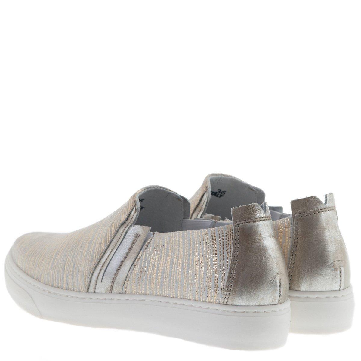 CAFèNOIR Damen Gold Slip-On Sneaker Weiss Gold Damen - 7831dc