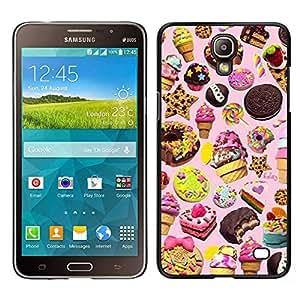 Sucreries Ice Cream Cookie Rose - Metal de aluminio y de plástico duro Caja del teléfono - Negro - Samsung Galaxy Mega 2