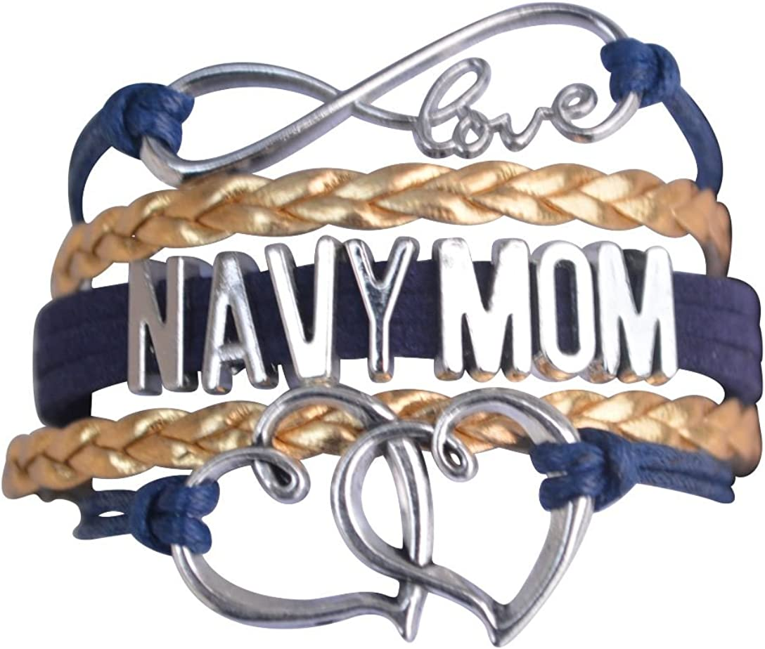 Sale Navy Mom Charm Bracelet