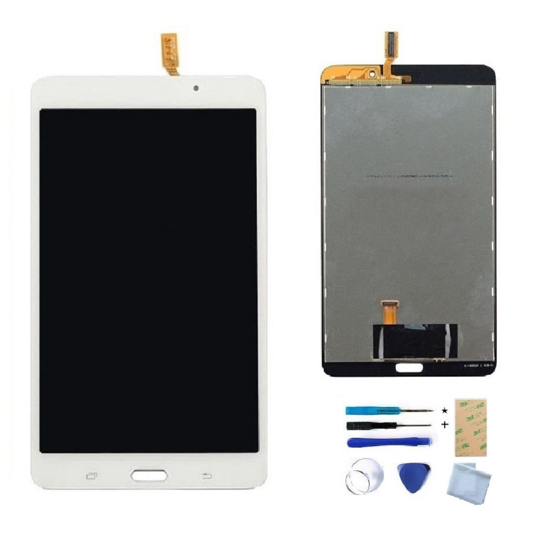 White LCD Display Touch Screen Digitizer Assembly Replacement Part for Samsung Galaxy TAB 4 7.0'' T230 T230NY T230NU T230NT WIFI with Tools(NO Earpiece Hole)