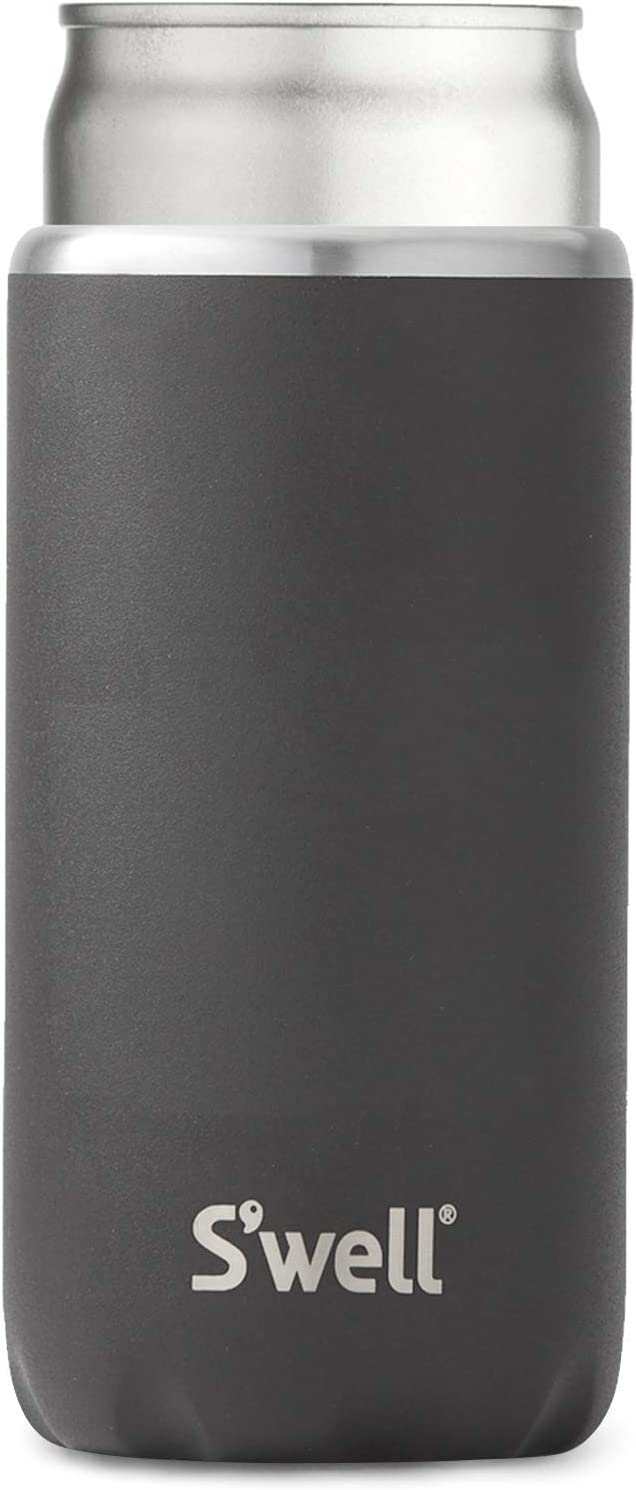 S'well Stainless Steel Chiller-Onyx-Fits 12oz Cans and Slim Bottles Triple-Layered Vacuum-Insulated Keeps Drinks Cool and Hot for Longer-Dishwasher-Safe BPA-Free for Travel