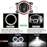 Cawanerl Car Accessories LED Fog Light Angel Eye