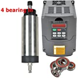 220v 2.2kw Air Cooled Er20 Japanese Bearing CNC Spindle Motor and Matching 2.2kw Variable Frequency Drive Inverter