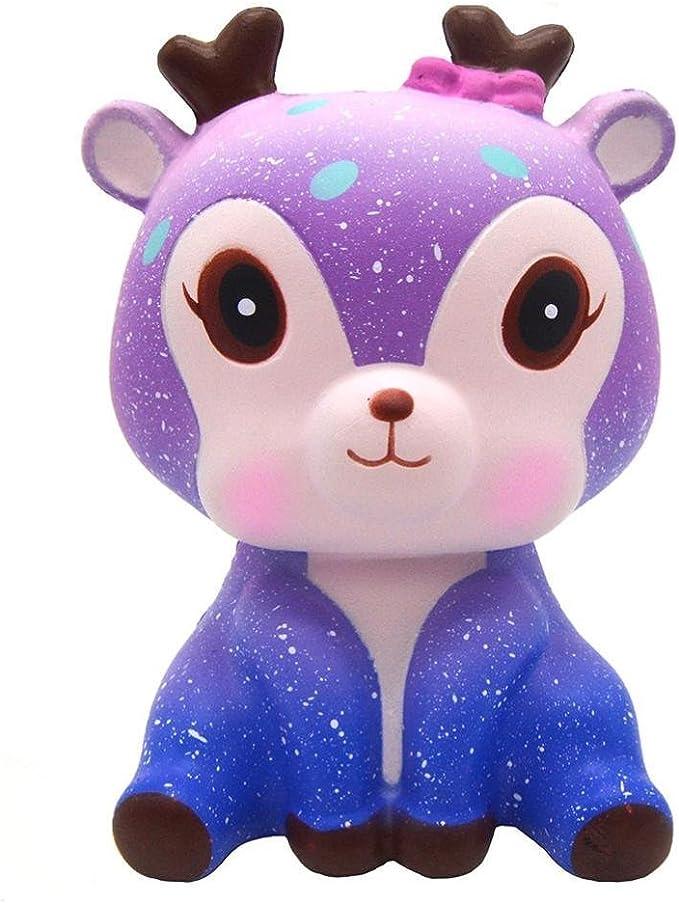 squishys Kawaii Ciervo, Galaxia Kawaii Deer Squishies Lento Creciente Crema perfumada Squishy Squeeze Toys, Regalo de los niños, Juguete de la descompresión: Amazon.es: Electrónica