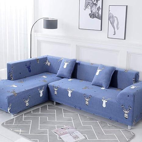 Fundas Sofa Ajustables Cubiertas De 2 Piezas Para Sofá De ...
