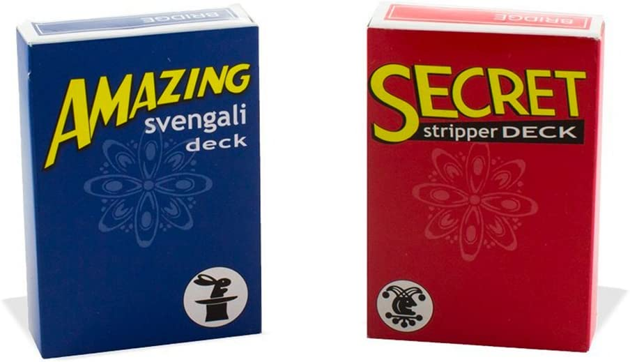 Magic Makers Amazing Svengali and Secret Stripper Deck Kit Red Svengali and Blue Stripper Hundreds of Possible Tricks From Beginner to Expert in This Set