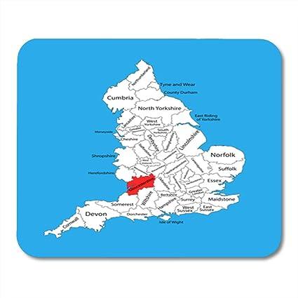 Map Of England Gloucestershire.Amazon Com Semtomn Gaming Mouse Pad East Map Of Gloucestershire In
