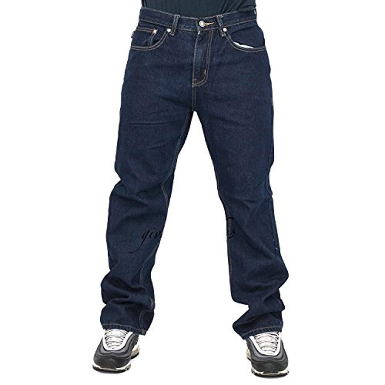 Peviani - Pantalones Vaqueros para Hombre, Color índigo G Denim, Rectos, Ajuste cómodo, Estilo Hip Hop, Star Wash
