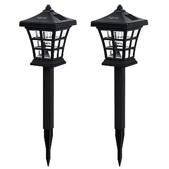 Aglaia Lampe LED Solaire de Jardin, Lot de 2 Lampes Solaires à ...