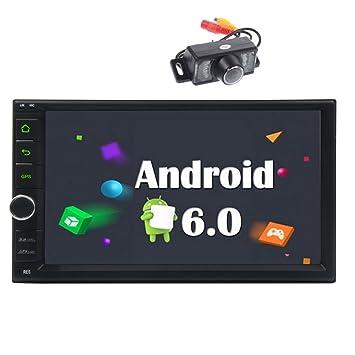 7Quad núcleo Android 6.0 estéreo del Coche de Univeral Autoradio Doble 2 DIN